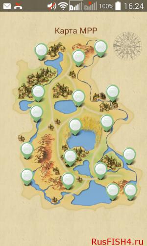 Карта водоемов МРР